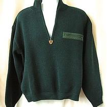 Patagonia Crewneck 1/2 Zip Sweater Dark Green 100% Wool  Photo