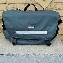 Patagonia Critical Mass Messenger Bag Bike Bag Bluegray Canvas Reflective Stripe Photo