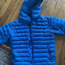 Patagonia Down Puffer Jacket Light Blue Great Condition Hooded Photo