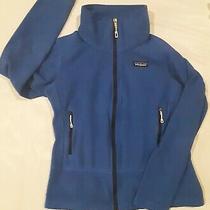 Patagonia Emmilen Womens Small Jacket Blue Mock Neck Fleece Full Zip  Photo