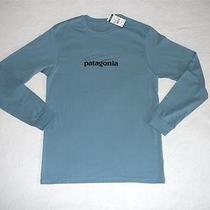 Patagonia Fish Logo T-Shirt Fly Fishing Graphic Men Small Cotton Blue 51618 Nwt Photo