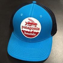 Patagonia Flying Fish Honolulu Trucker Hat Fish Fork Cap Blue Rare Photo