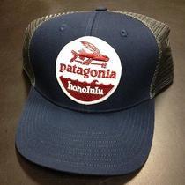Patagonia Flying Fish Honolulu Trucker Hat Fish Fork Classic Navy Rare Photo