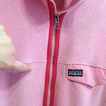 Patagonia Girl's Xl 14 (Or Women's s) Pink Synchilla Jacket Full Zipper Stains Photo
