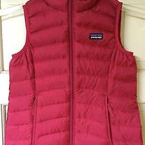 Patagonia Girls' Down Sweater Vest - Red - Size Small 8 Puffer Gift Warm  Photo