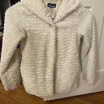 Patagonia Girls Sz 12 Large White Fuzzy Jacket Coat Euc Warm Coat Photo