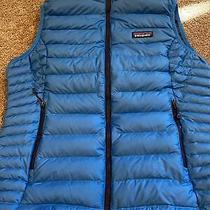 Patagonia Goose Down Puffy Vest Womens Med Euc Blue Photo