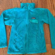 Patagonia Green Womens Zip Up Fleece Jacket Size Xs Photo