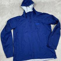 Patagonia H2no Torrentshell Breathable Full Zip Jacket Men's Sz L Navy Blue Photo