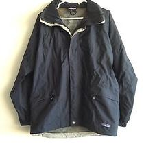 Patagonia Hooded Full Zippered Nylon Jacket Size Medium Worn Only Once Very Nice Photo