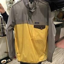 Patagonia Houdini Snap-T Jacket Mens Pullover Windbreaker Yellow - Size S Photo