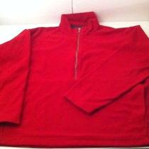 Patagonia Jacket Made in Usa Micro D-Luxe Half Zip Fleece Jacket Red Medium Photo