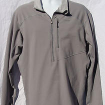 Patagonia Lightweight Pullover Shirt Jacket Half Zip Men's Xl Nylon Gray Euc  Photo