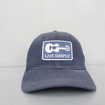 Patagonia Live Simply Guitar Trucker Hat Cap Snapback Navy Blue. Photo