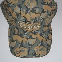 Patagonia Logo Hat Baseball Cap Fly Fishing Fishing Fish Casting Camo Mens L Photo