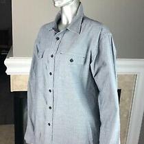 Patagonia Long Sleeved Buckshot Organic Cotton in Navy Toothy Shirt M  Photo