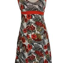 Patagonia M Lliana Halter Dress Veronique Paintbrush Red Floral Print Organic  Photo