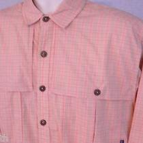 Patagonia M Medium Organic Cotton Camp Fishing Vented Button Shirt Mens Casual Photo