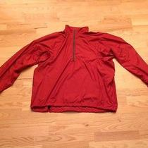 Patagonia Men's 1/2 Zip Red Windbreaker Jacket Size Xl Photo