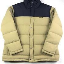 Patagonia Men's Bivy Down Jacket Khaki/navy Size Xxl Photo