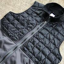 Patagonia Men's Hybrid Down Vest Small Grey Black Full Zip 31310 Photo