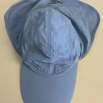 Patagonia Men's L / Xl Nylon Fishing Hat Long Bill Neck Shade Adjustable Blue Photo