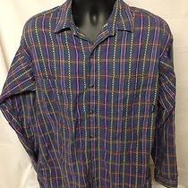 Patagonia Men's Large  Plaid Long Sleeve Button Down Outdoor Shirt Photo