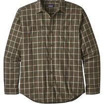 Patagonia Men's Long-Sleeved Organic Pima Cotton Shirt Size Medium Logwood Brown Photo