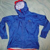 Patagonia Men's M Blue Waterproof Rain Jacket Hood Taped Seams Lightweight Euc Photo