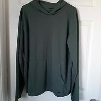 Patagonia Men's Polyester Green Long Sleeve Pullover Hoodie Sz Large Photo