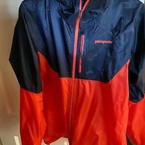 Patagonia Men's Rain Jacket (Orange & Blue) Photo