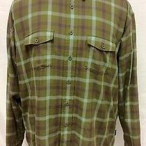 Patagonia Men's Shirt Size Xl Long Sleeve Green Plaid Button Down Photo