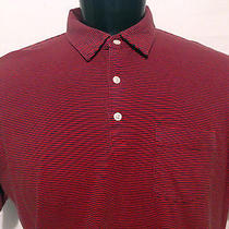 Patagonia Men's Short Sleeve Red Blue Striped Pocket Polo  Shirt Xl Extra Large Photo