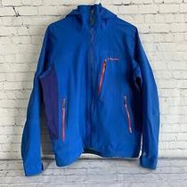 Patagonia Men's Size Medium Blue Rainshadow Rain Jacket Hiking Outdoors Stretch  Photo