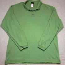 Patagonia Men's Size Xl Green Lightweight Organic Cotton Rugby Shirt Photo