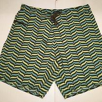 Patagonia Mens Swim Trunks Shorts Size 38 Zipper Pocket Drawstring Nylon Photo