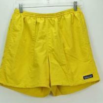 Patagonia Men's Swimming Trunks Mesh Lined Shorts Yellow Medium Photo