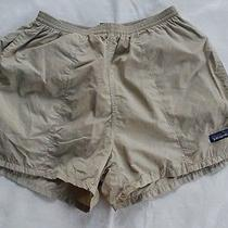 Patagonia Men's Swimming Trunks Shorts Water Bottoms Beige Nylon Medium  Photo