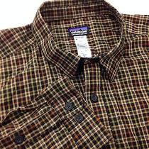 Patagonia Men's Xl Long Sleeve Earth Tone Plaid Shirt Hiking Camping Fishing Photo
