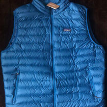 Patagonia Men's Xxl Down Sweater Vest. Balkan Blue/balb.  Photo