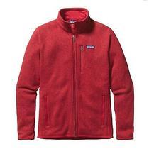 Patagonia Mens Classic Red Better Sweater Sz M Full Zip Jacket Hoodie Euc Photo
