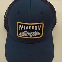 Patagonia Mens Climb a Mountain Trucker Cap/hat 38003 Glass Blue Photo
