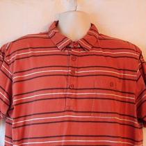 Patagonia Mens L Organic Cotton Shirt Sleeve Shirt Orange Casual 1/4 Button Photo