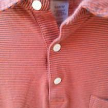 Patagonia Mens Large Short Sleeve Pullover Pocketed Polo Golf Shirt - Striped Photo