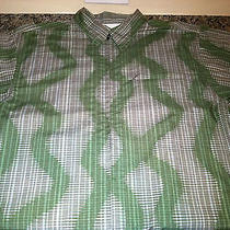 Patagonia Mens Organic M Cotton Plaid 1/4 Zip Camp Shirt Dress Nice Hiking S/s Photo