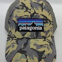 Patagonia Mens P6 Lopro Trucker Cap/hat 38016 Big Camo Classic Tan Brand New Photo
