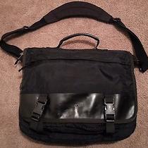 Patagonia Messenger Padded Shoulder Book Computer Bag Black Nylon Look Photo