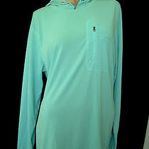Patagonia Nwt Athletic Top Aqua Polyester Long Sleeve Hood Roomy W-Xl M-L  59  Photo