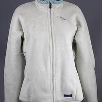 Patagonia Off White Fleece Jacket Coat M Photo