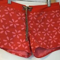 Patagonia Orange Red 100% Nylon Athleisure Shorts Size 4 Photo